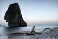 Paysage tranquille scénique photographie de mer de nature Photographie stock libre de droits