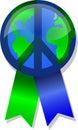 Paz en el botón/EPS de la tierra Fotos de archivo libres de regalías