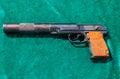 The pb silent pistol pb is a soviet silenced pistol based on t samara russia may russian firearms makarov design Royalty Free Stock Photo