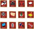 Pc icons 1 Royalty Free Stock Images