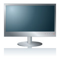 Pc monitor computer display isolated white Stock Photos