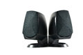 Pc speakers a pair of speaker isolated white background Royalty Free Stock Images
