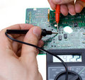 PCB diagnostics Stock Photography