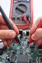 PCB testing Royalty Free Stock Photo