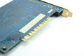 Pci device with blue color of main board circuit Stock Photos