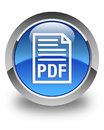 PDF document icon glossy blue round button Royalty Free Stock Photo