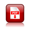 Pdf download button Royalty Free Stock Photo