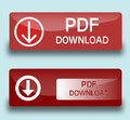 Pdf download buttons Royalty Free Stock Photo