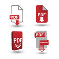 PDF Download icons Royalty Free Stock Photo