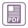 PDF file document icon Royalty Free Stock Photo