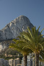 Peñon de ifach from levante beach calpe alicante province spain Stock Photography