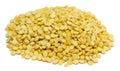 Pea grain on white background Royalty Free Stock Photo