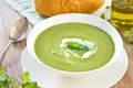 Pea,Mint and Celery soup Royalty Free Stock Image