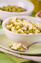 Pea and pasta soup. Royalty Free Stock Photos