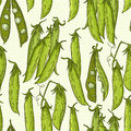 Pea pattern Royalty Free Stock Photo