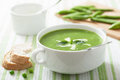 Pea soup with mint Royalty Free Stock Photo