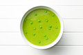 Pea soup in plate Royalty Free Stock Photo