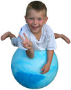 Peace on a ball Royalty Free Stock Photo
