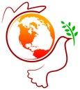 Peace bird Royalty Free Stock Photo