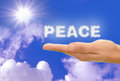 Peace cloud text clouds spell the word Royalty Free Stock Photo