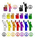 Peace Collection Royalty Free Stock Images
