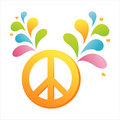 Peace with colorful splash Stock Photography