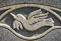 Peace Dove Engraving Royalty Free Stock Photo