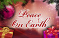 Peace on earth wishes Stock Images