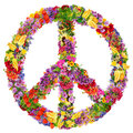Peace flower symbol Royalty Free Stock Photo