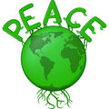 Peace On The Green Earth Royalty Free Stock Images