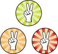 Peace Hand Sign Royalty Free Stock Photo