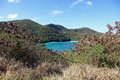 Peace hill in st john windmill u s virgin islands Royalty Free Stock Image