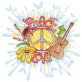 Peace and love  illustration Stock Images
