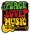 Peace-Love-Music_Rasta Colors Royalty Free Stock Photo