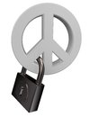 Peace and padlock Stock Photos