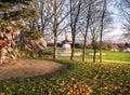 Peace Pagoda Milton Keynes Winter Sun Royalty Free Stock Photo