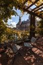 Mier palác záhrada v jeseni