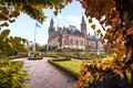 Peace Palace garden in Autumn Royalty Free Stock Photo