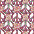 Peace pattern. Creative doodle background. Vector Royalty Free Stock Photo