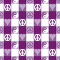 Peace Plaid_Purple Royalty Free Stock Image