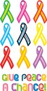 Peace Ribbon Symbol Stock Image