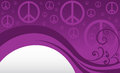 Peace sign background a swirl flourish with signs Royalty Free Stock Images