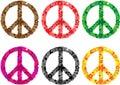 Peace sign flower power