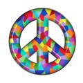 Peace Sign Glass Royalty Free Stock Photo