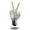 Peace Sign Light Bulb Royalty Free Stock Image