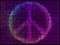 Peace sign multicolor abstract lights background square pixel mosaic vector Stock Photos