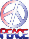 PEACE sign and text Stock Photography