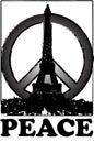 Peace and solidarity for Paris vintage stlye Paris, france