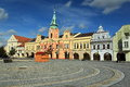 Peace square in Melnik Stock Images