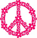 Peace symbol pink vector image Royalty Free Stock Photos